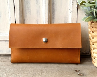 Leather wallet - cognac! Lady's wallet cognac, leather wallet, leather purse!