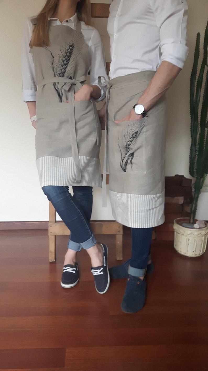 Linen Aprons Pinafore Aprons Natural Linen Aprons Washed Linen Aprons Gray Linen Aprons Linen Kitchen