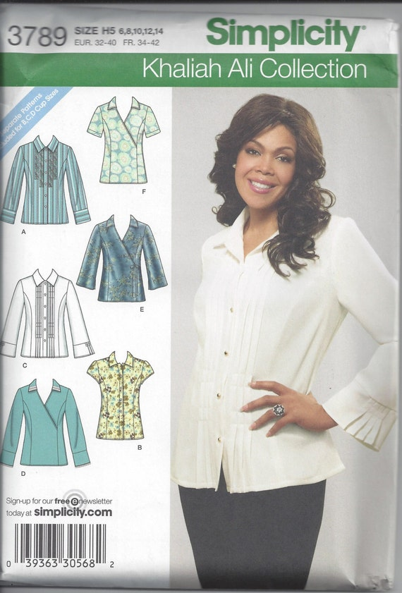 Simplicity 3789 Sewing Pattern For Shirts With Front Etsy