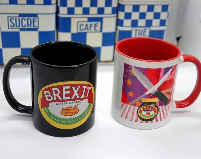 Brexit / Marmite spoof mugs - funny office mug - original art