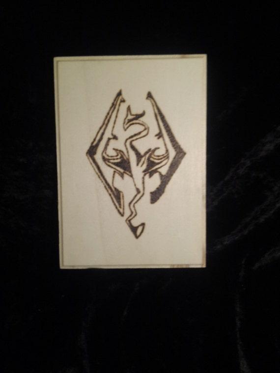 Items Similar To Skyrim Imperial Legion Dragon Symbol Wood Burn On Etsy