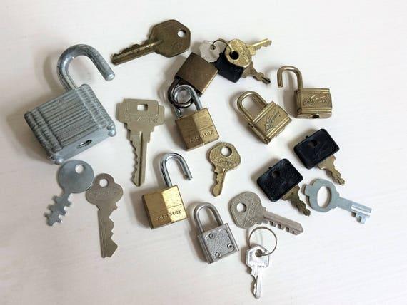 sale vintage locks and keys lot old locks old keys assemblage etsy