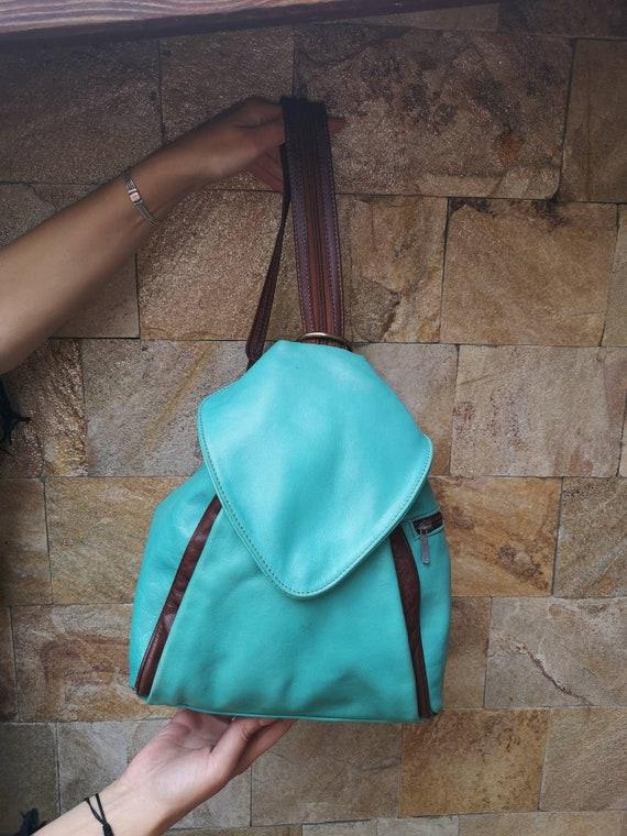 Vintage Leather backpack, soft leather backpack, t