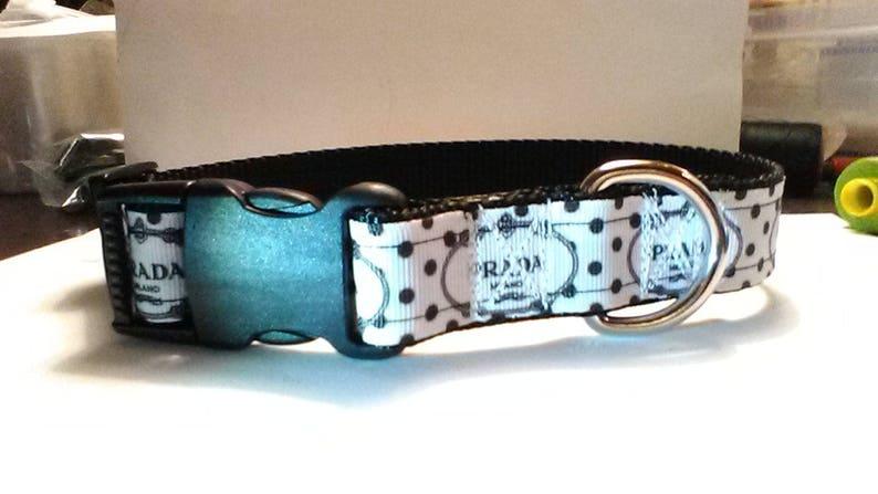 1f252a756e7ad Prada inspired handmade dog collar