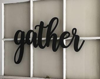 Gather Home Decor, Wood Cut Out, Dinning Room Decor, Farm House Decor