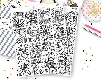 16 Coloring Box Stickers for Erin Condren Life Planner, Plum Paper, Filofax or Kiki K Planners, Calendars or Scrapbooks