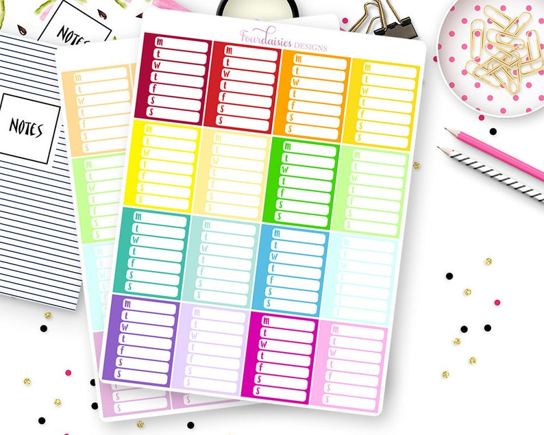 16 Blank Sidebar Trackers for Erin Condren Life Planner, Plum Paper or  Mambi Happy Planners || 5001