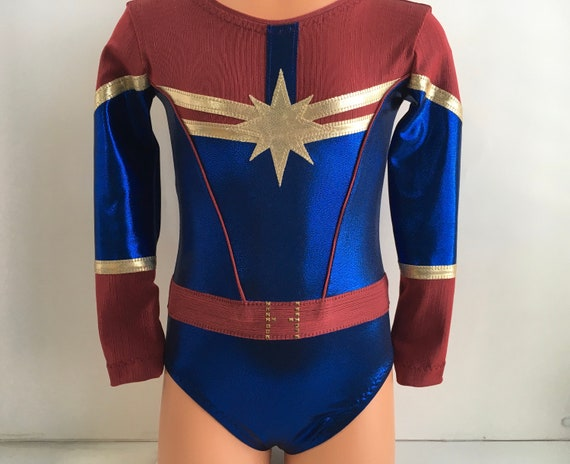 Captain Marvel Themed Long Sleeve Leotard Gymnastics Leotard Etsy A wide variety of captain marvel costume options are available to you, such as supply type, costumes type, and holiday. etsy