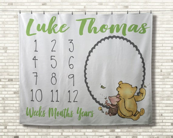 Baby Shower Personalised Baby Grow Winnie the Pooh 2 Piece Set All in One