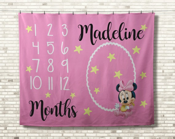 Personalised embroidered baby blanket Baby Minnie or Mickey