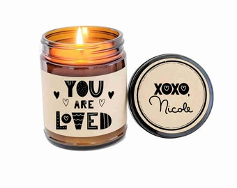 You are Loved Gift for Her Gift Gift for Him Scented Soy Candle Holiday  Gift Christmas Gift Long Distance Gift for Boyfriend Girlfriend 752d99ffa3