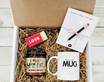 Long Distance Gift Box Miss You Care Package Thinking Of LDR Boyfriend Valentines Day