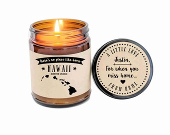 Hawaii Scented Candle Missing Home Homesick Gift Moving Gift New Home Gift No Place Like Home State Candle Miss You Gift Christmas Gift