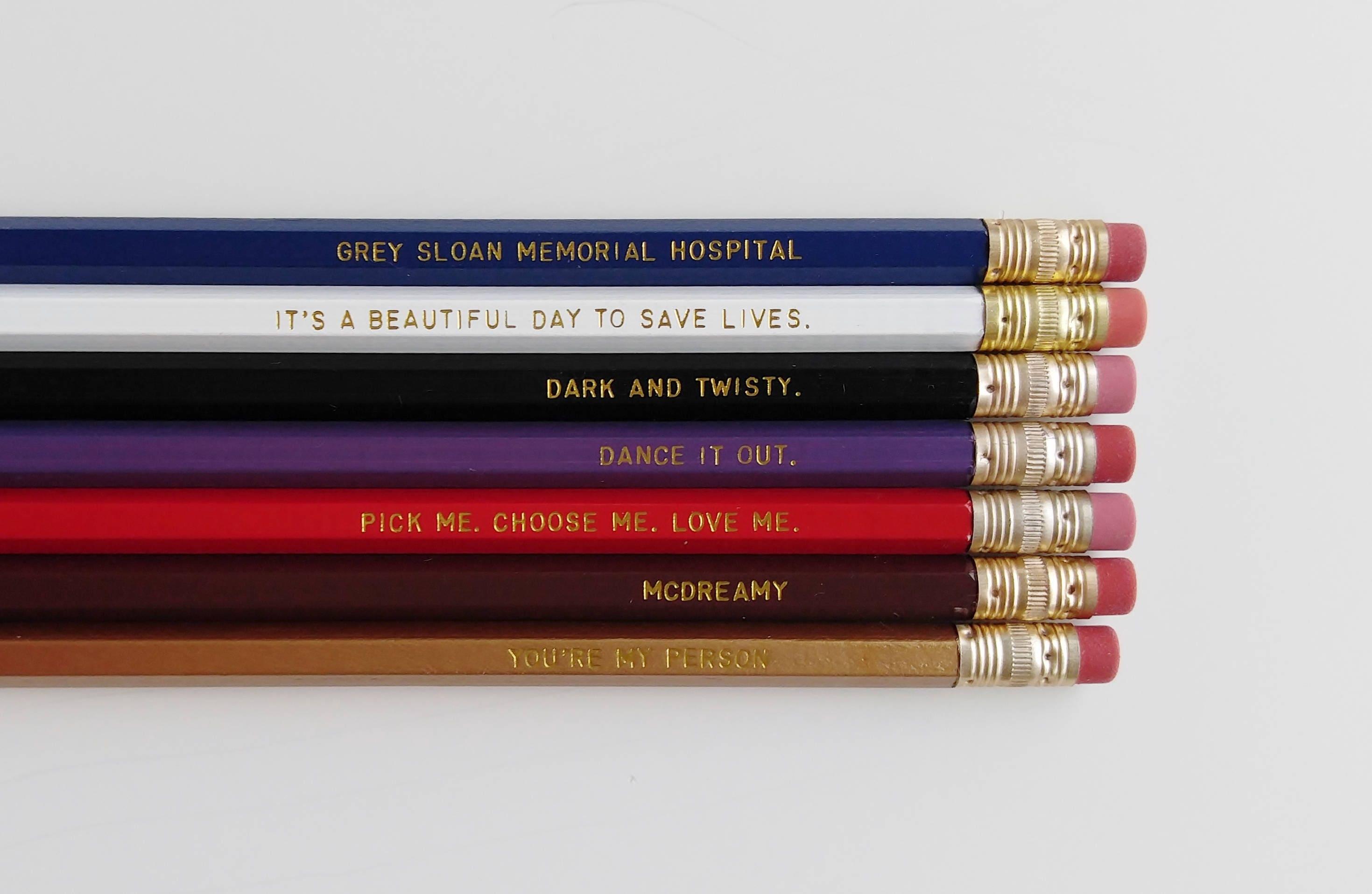 Greys Anatomy Engraved Pencil Set Youre My Person Nurse Gift Etsy