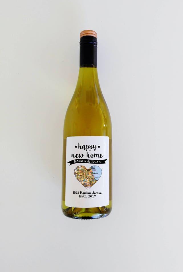 Benutzerdefiniertes Etikett Weinflasche Label Einweihungsparty | Etsy