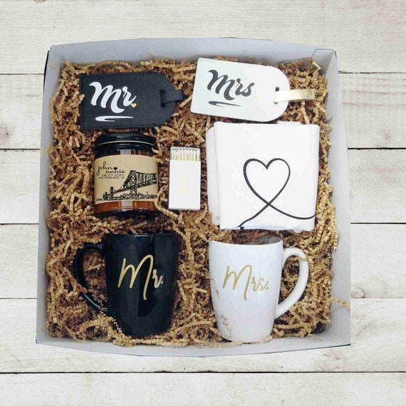 Mr Mrs Wedding Gift Box Unique Wedding Gift Engagement Gift Etsy