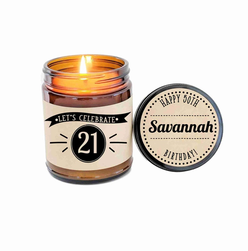 21st Birthday Gift Candle 21 For Friend