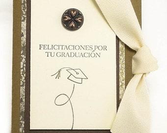 64-Spanish Graduation Gift Card Holder, Masculine, Boy, Man, Congratulations, Cash, Check, Mortar Board, You Did It, Change World, Toss Cap