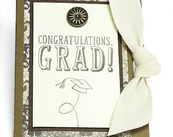 63-Graduation Gift Card Holder, Masculine, Boy, Man, Congratulations, Cash, Check, Mortar Board, You Did It, Change the World, Toss Cap
