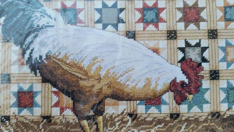 Cross Stitch Embroidery Starter Kit Including 14ct Classic Reserve Stamped Aida Colored Threads and Tools Angel 14CT Stamped