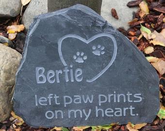 Pet Memorial - left paw prints on my heart