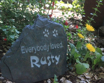 Memorial Stone (Dog or Cat)- Everybody loved