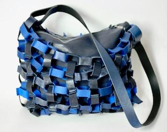 Blue Art, Dutch Design, Upcycle Shoulderbag
