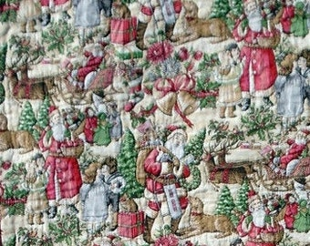 Vintage santas quilt