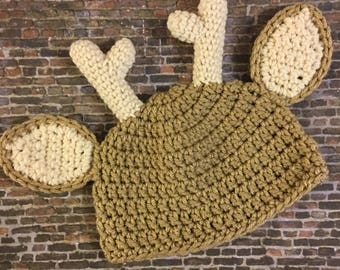 Baby Deer Hat - hunting hat - newborn - photography