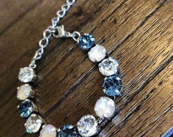 Blue Swarvoski Crystal Bracelet