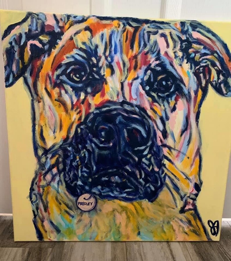 Hand Painted Pet Portraits By Local Artist Dog Portraits Cat image 0