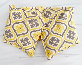 Microwavable Neck Wrap - Yellow/Grey Floral - Handmade by A Very Sweet Life
