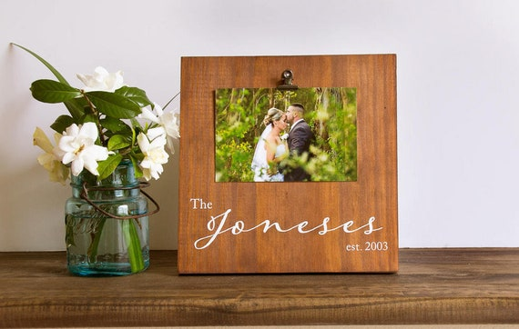 Personalized Picture Frame Wooden Picture Frame Etsy