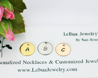 Initial Charm, Personalized Alphabet Charm, Initial Charm, Hand Stamped Letter Charm, Letter Jewelry, Initial Charm, Initial Pendant