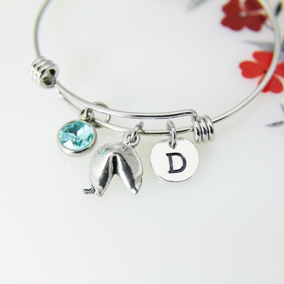 Peach Charm Bracelet Personalized Expandable Stainless Steel Bangle