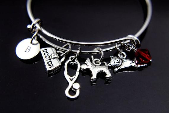 Veterinary Veterinarian stethoscope pendant charm For European Bracelet necklace