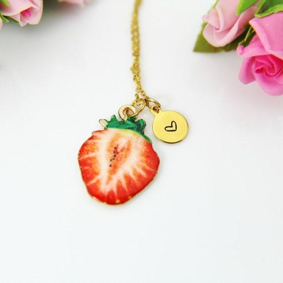Strawberry Velvet Choker Necklace Pendant Fruit Charm Gift 5mm