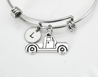 Truck Charm Bracelet, Truck Charm Bangle, Truck Charm, Car Bracelet, Car Charm, Best Friend Gift, Coworker Gift, Personalized Gift, B60