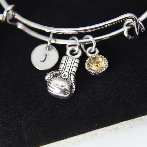 Silvertone Small Boxing Glove Daughter You Are Loved Circle Bracelet 8
