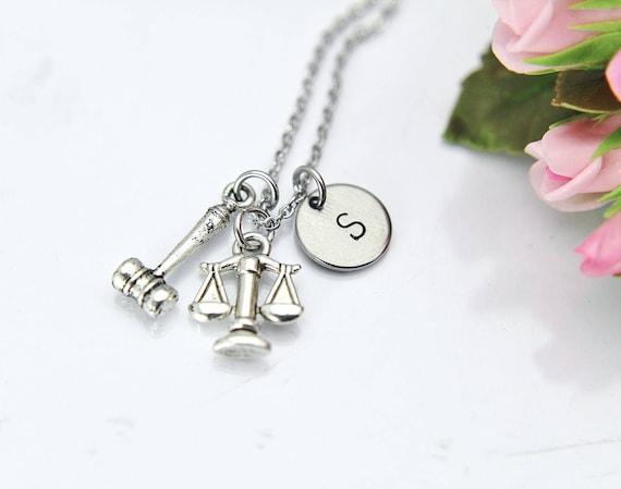 GiftJewelryShop Bronze Retro Style Judges Tool Gavel Anchor Charm Pendant Necklaces #8