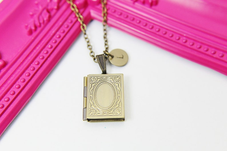 Miniature Book Locket Necklace Miniature Book Necklace Book image 0