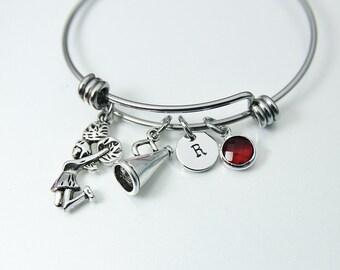 Cheerleading Team Bracelet Gift, Best Gift for Cheerleader Girl Cheer School Team Granddaughter Daughter Niece Personalized Gift, N1902