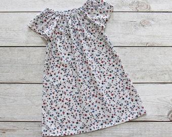 Girl Patriotic Peasant Dress Size 1/2-4