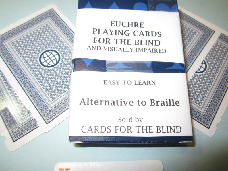 Euchre Playing Cards for the Blind  Playing cards which use a image 0