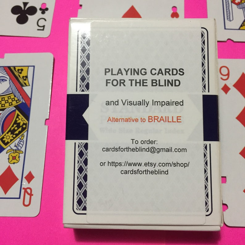 Playing Cards for the Blind and Visually Impaired  ALTERNATIVE image 0