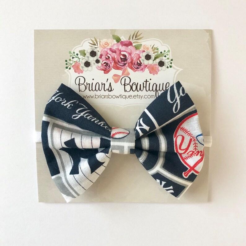 Navy And Blue NY Yankees Baseball Newborn//Baby //Toddler //Girl Headband