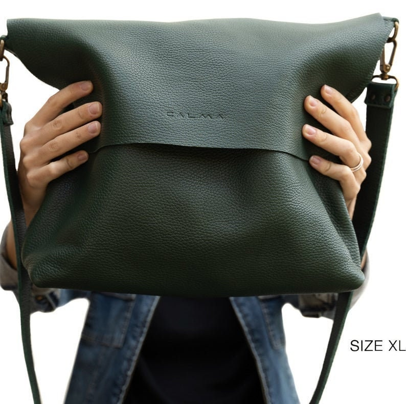 handmade leather bag UN Leather Crossbody bag Leather bag Now you can add a short strap to your crossbody bag to carry it on your shoulder
