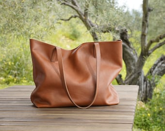 Leather Tote Bag Full Grain Leather Tote Bag Personalized gifts,  Cloud Oslo.