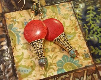 Egyptian sunset earrings