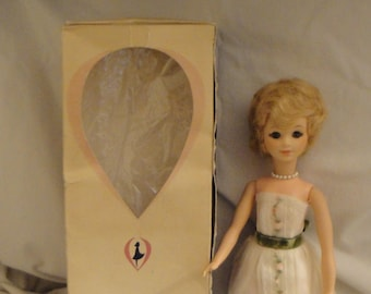 Vintage Vogue 1963 Loveable Jan in Original Dress and Box with Brochure and Wrist Tag